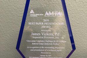 2019 AMTA/AWWA MTC Best Paper Award